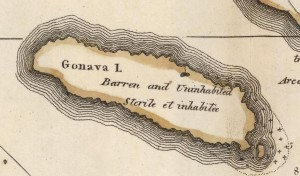 Map of La Gonave from 1818