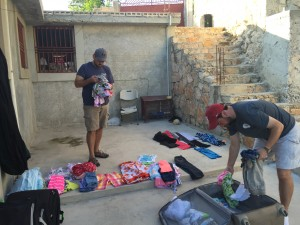 Ralph and Jereme get Clothes ready